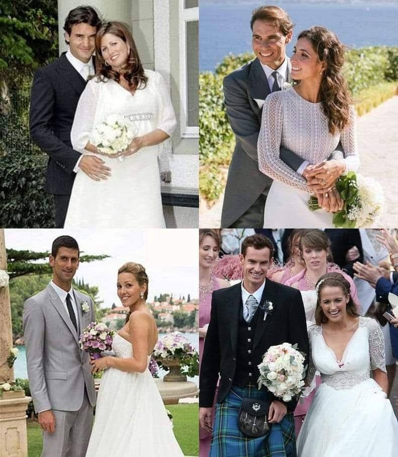 Nadal, Federer, Djokovic or Murray: Who wore the best wedding suit?