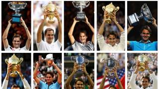 Federer's 20 Slams record