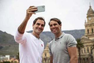 Nadal and Roger today in cape town ahead of their meeting