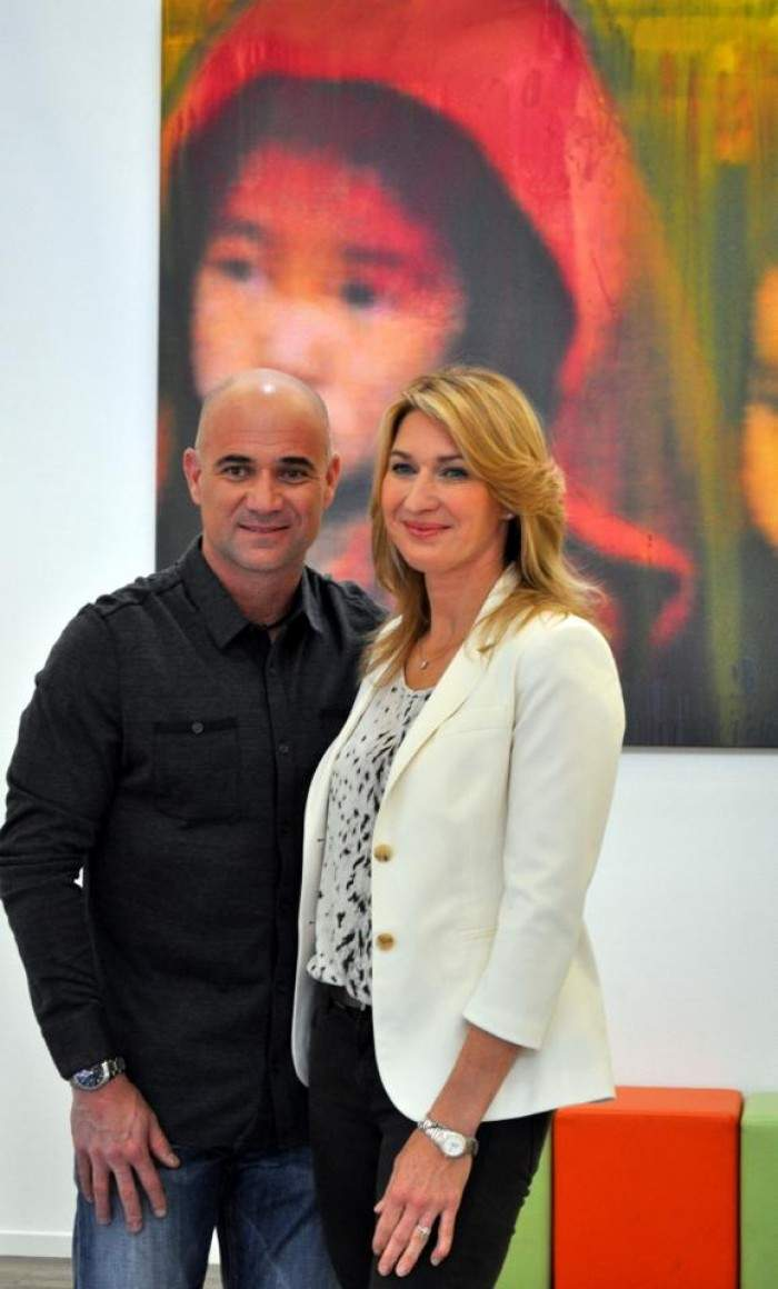 Steffi Graf and Andre Agassi in Hamburg for charity event