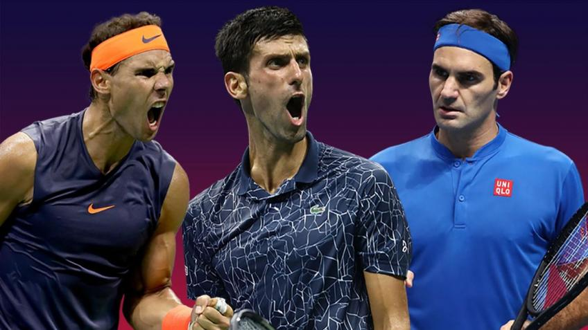 Roger Federer, Nadal and Djokovic: 58 slams and 64 finals since 2003