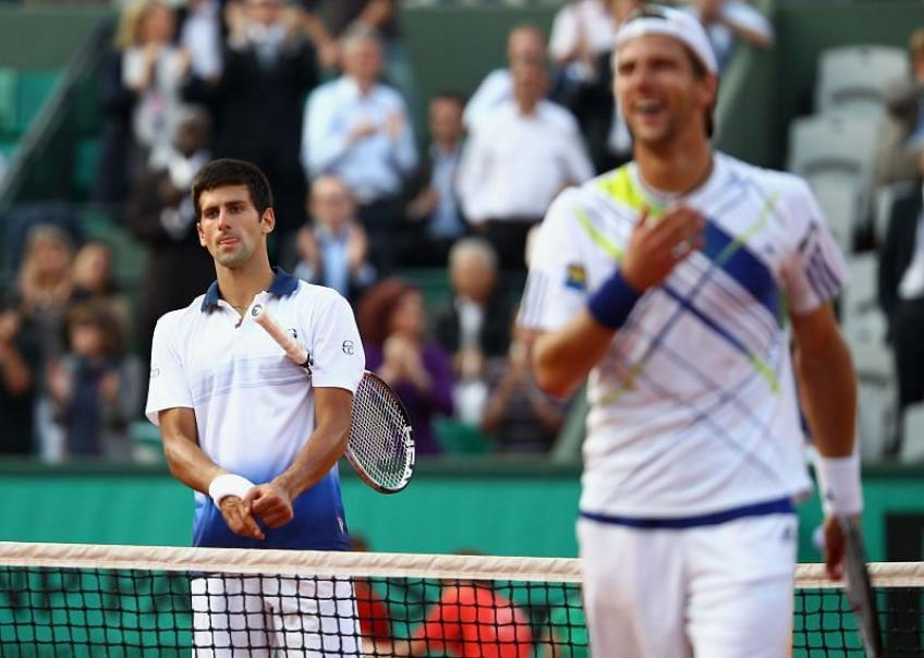 Novak Djokovic cried after blowing two-set lead against Jurgen Melzer at RG
