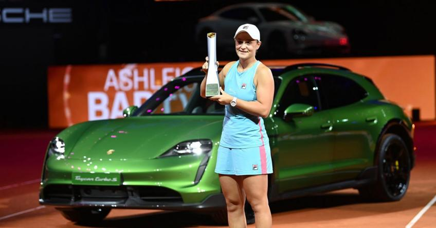 Ashleigh Barty survives another roller-coaster to claim Porsche Grand Prix title