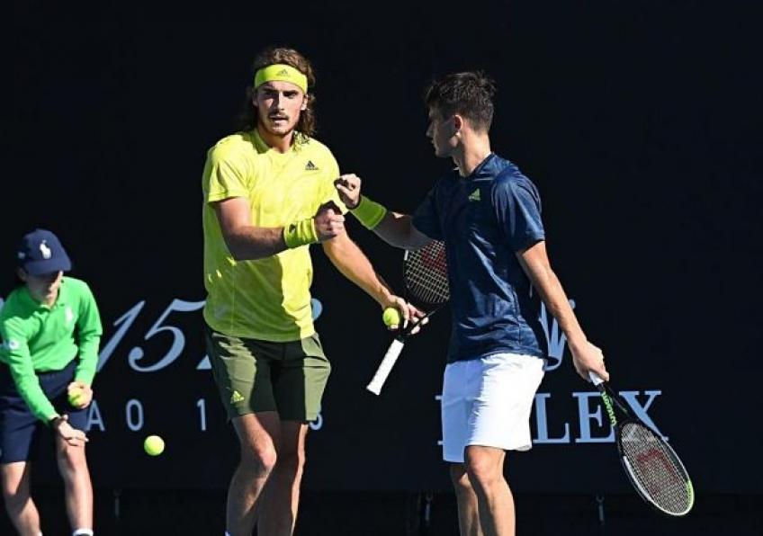 ATP Madrid: Tsitsipas brothers fall just short to No. 7 seeds in doubles opener