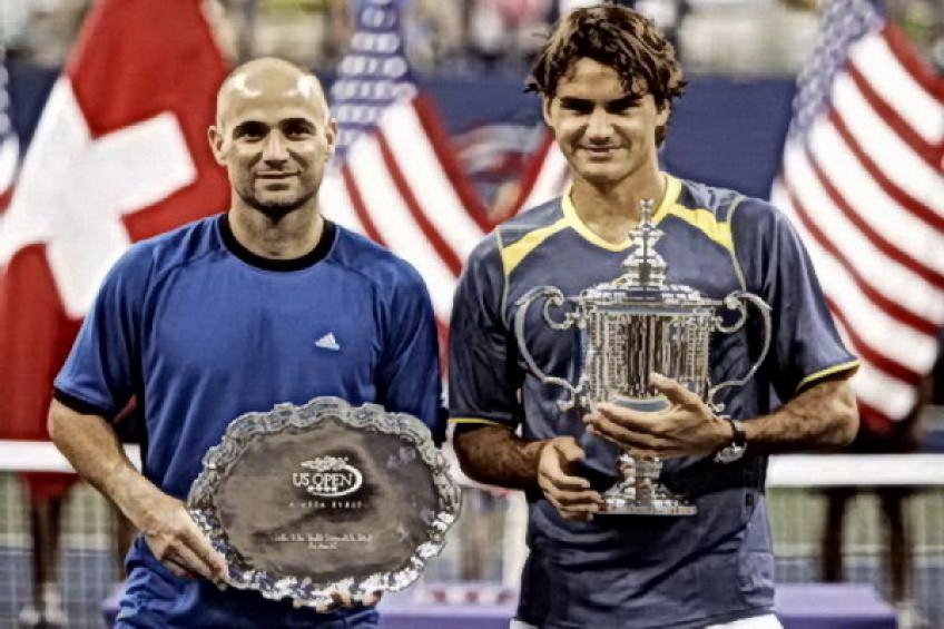 'Roger Federer was at his best against me in the 2005 US Open final,' says Agassi