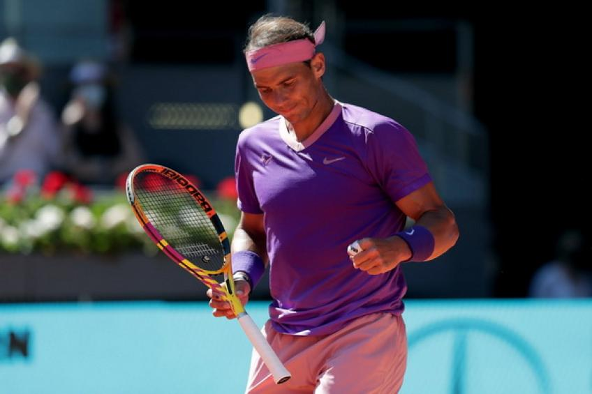 'Rafael Nadal lost seven consecutive points before rotating approach,' says young gun