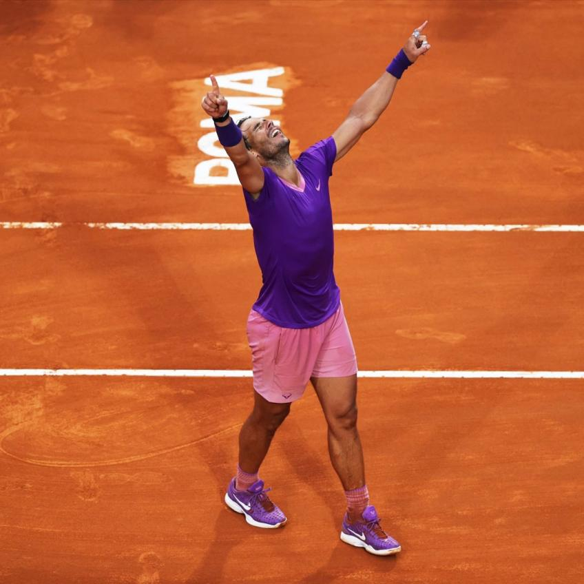 Rafael Nadal. I went through a lot in Rome