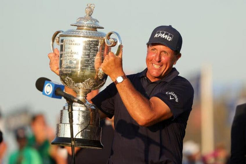 Tiger Woods, congratulations to Phil Mickelson