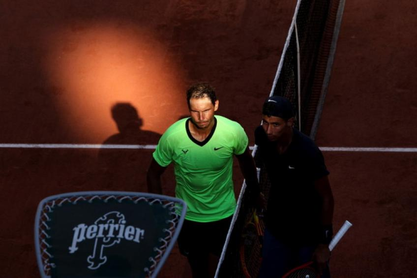 'Rafael Nadal was forced to raise his level in the third set, which is good,' says..