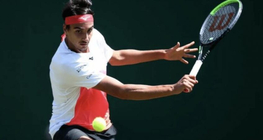 Lorenzo Sonego reacts to making Eastbourne final