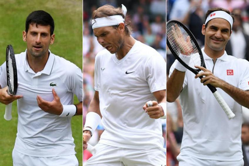 'Roger Federer, Nadal and Djokovic have been a cut above...', says legend