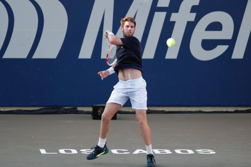 No. 1 seed Cameron Norrie reacts to making winning start in Los Cabos