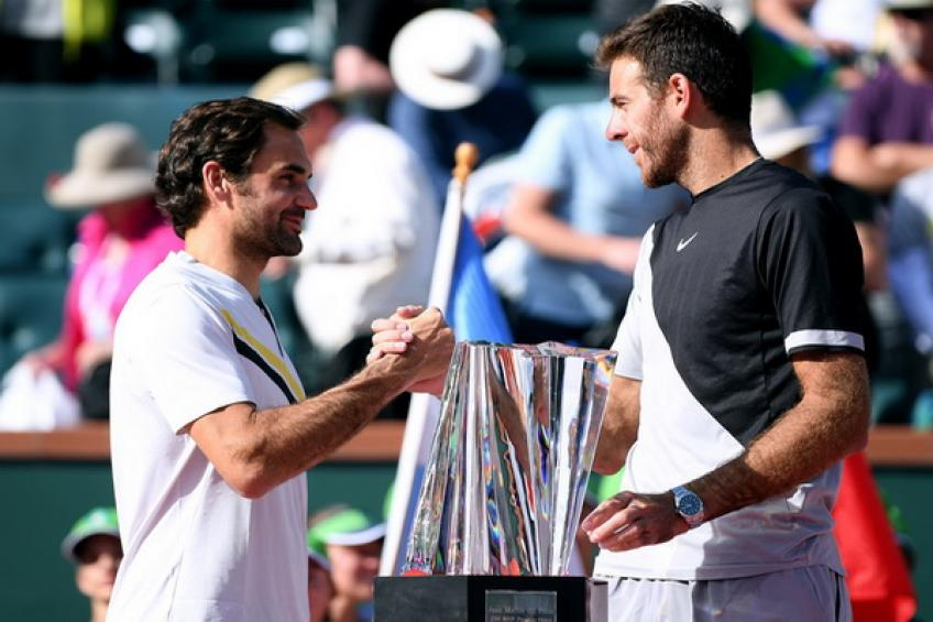 'Roger Federer and Juan Martin del Potro played crazy match in Indian Wells,' says..
