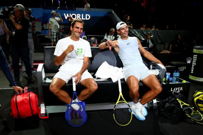Rafael Nadal shares a picture with Roger Federer and backs Team Europe in Laver Cup