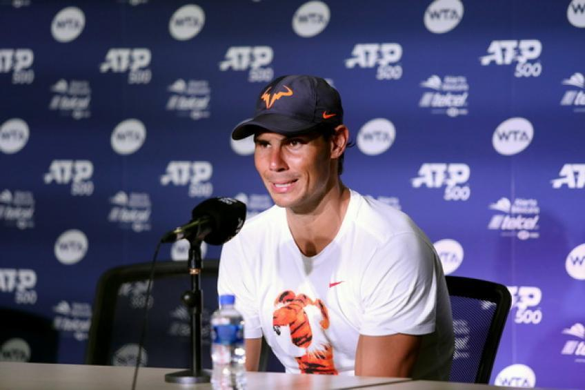 'Rafael Nadal hits the ball hard and high from...', says young ATP star