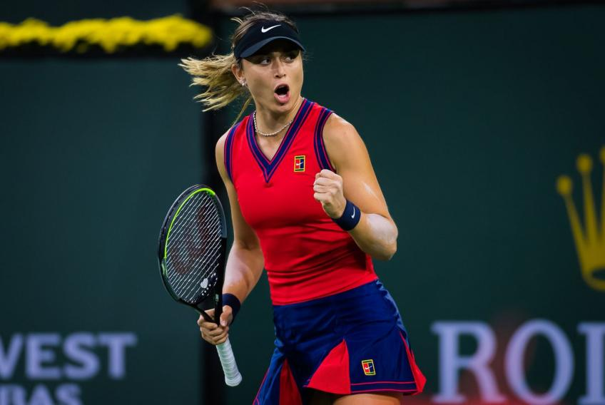 Paula Badosa reacts to absolutely destroying Cori Gauff in Indian Wells