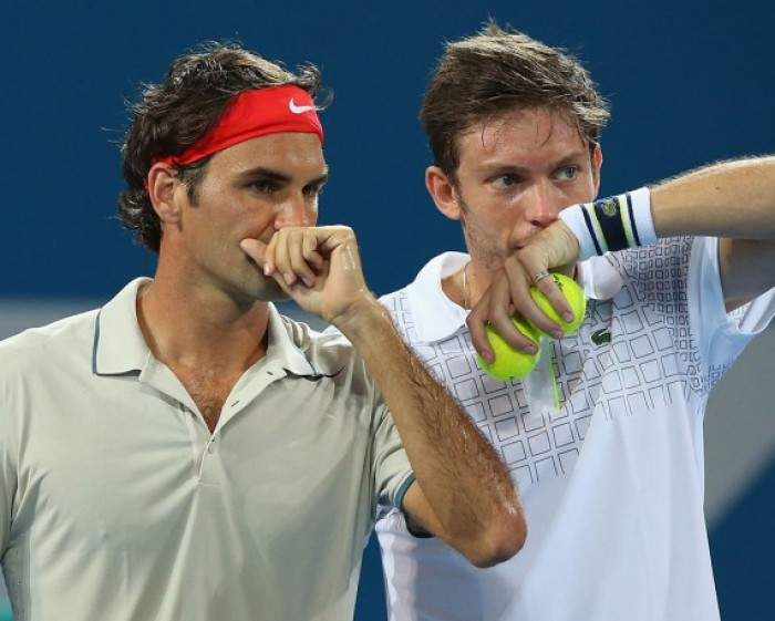 Tennis - Roger Federer goes down in the doubles semi-final