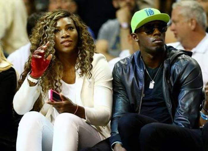 Serena Williams hangs out with the world´s fastest man!!