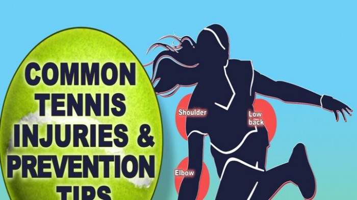 The 5 most common tennis injuries