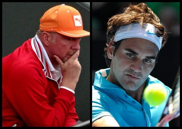 Becker is not really a fan of Federer´s SABR for obvious reasons