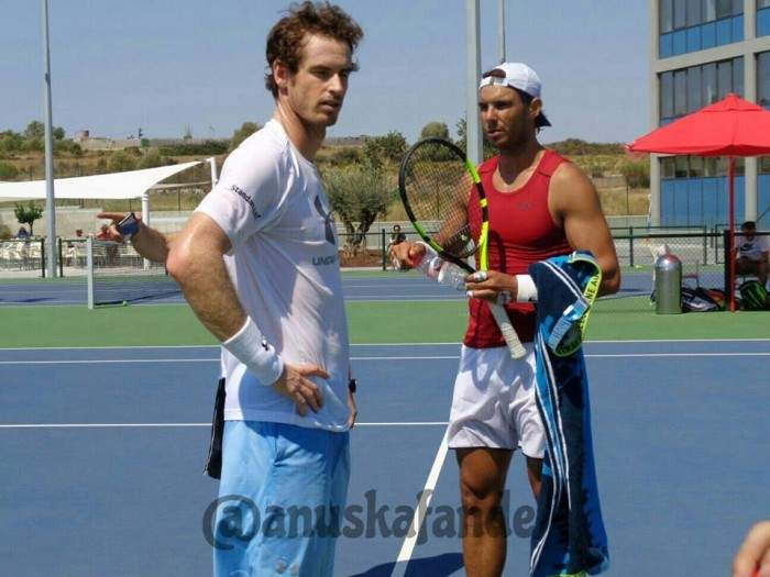 Rafael Nadal beats Andy Murray two sets to love in a practice session!