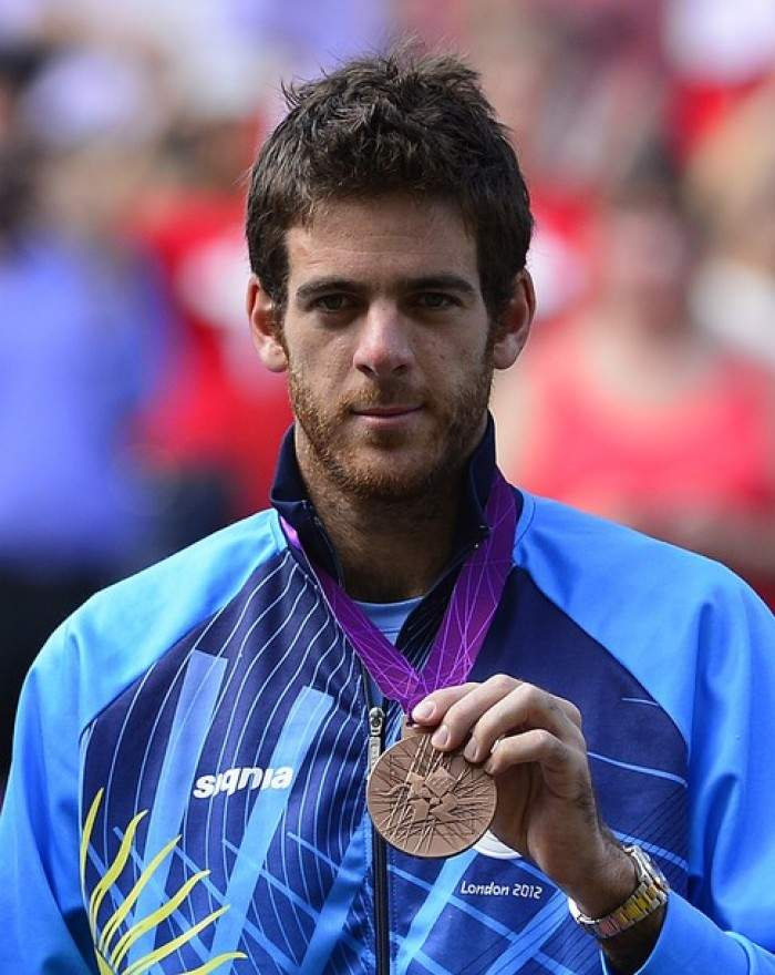 Image result for del potro with olympic medal