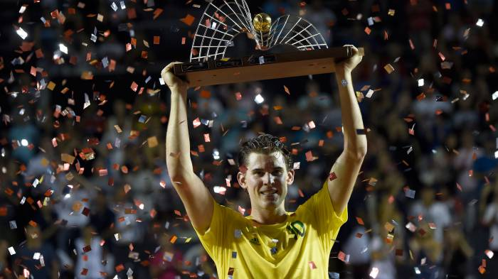 Dominic Thiem's crazy schedule: he will play 3 events in 2018 February!