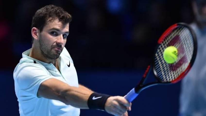 ATP FINALS - Grigor Dimitrov beats Jack Sock to achieve career high ranking