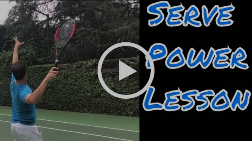 Do you want more power in your serve? DROP THE RACKET