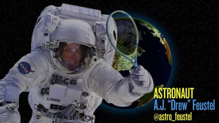NASA Astronaut to play tennis in the space