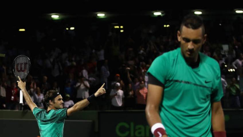 Roger Federer: 'Nick Kyrgios still needs to work much more than he is'