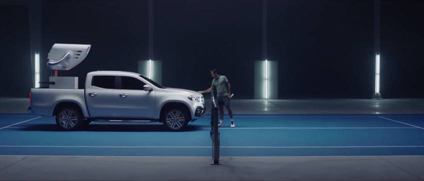 Roger federer challenges mercedes benz car in new ad for Mercedes benz new advert