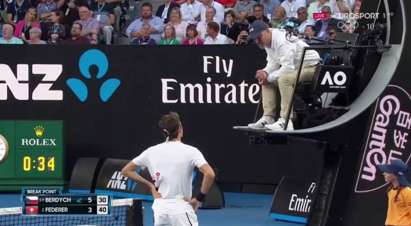 Federer's challenge doesn't go as planned