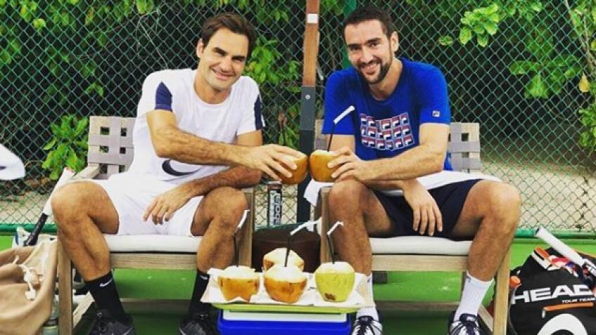 Roger Federer casually met Cilic at the Maldives: 'We trained together'