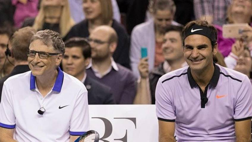 Roger Federer teams up with Bill Gates for charity