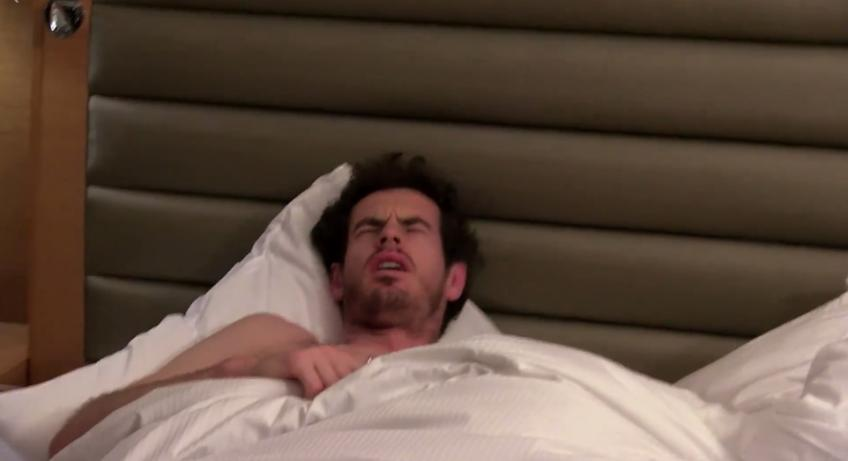 Andy Murray gets woken up in the middle of the night in a TV Programme