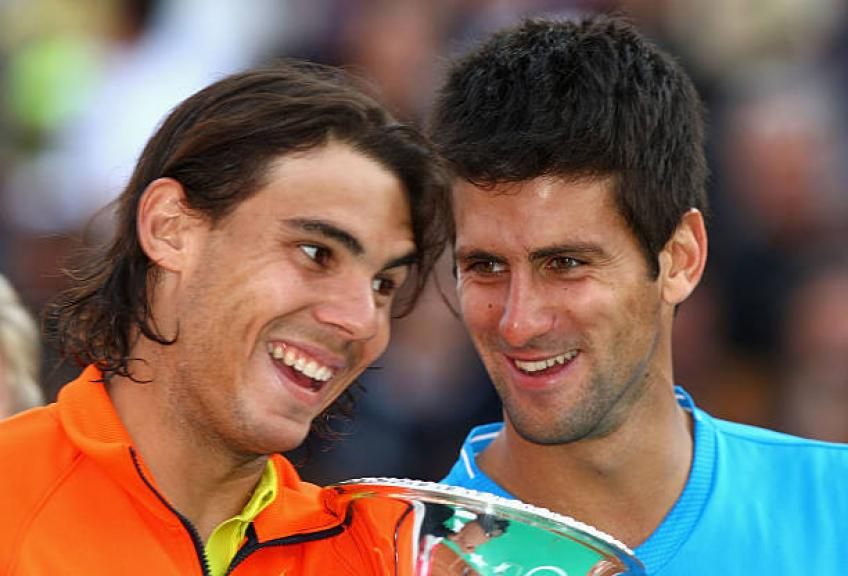 Novak Djokovic leads this list involving Rafael Nadal on clay