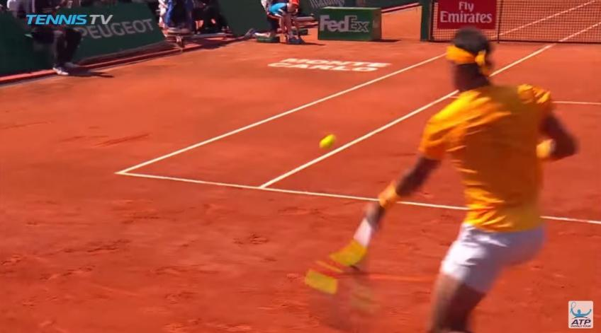 Nadal finds CRAZY angle in Monte Carlo final