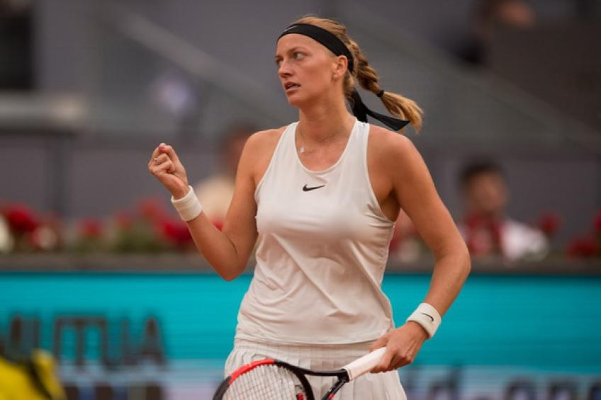 WTA Madrid Petra Kvitova beats Karolina Pliskova to set Bertens clash
