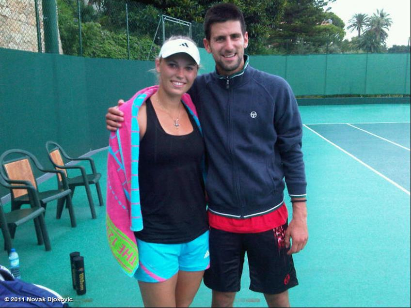 Novak Djokovic speaks about his training with female players