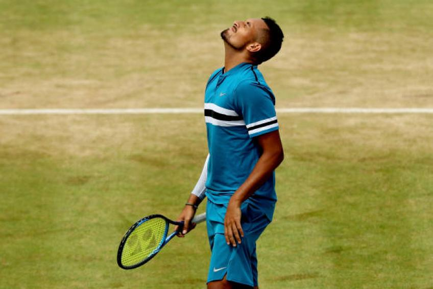 Nick Kyrgios fined for visible obscenity at Queen's