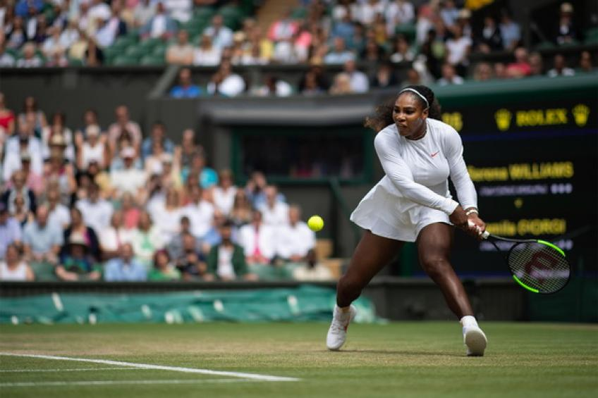Live Serena Williams seeks Wimbledon final against Julia Goerges