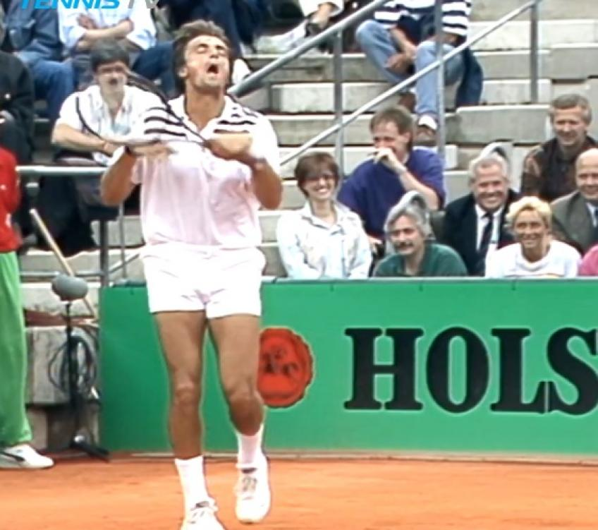 Tennis in 1990s: Henri Leconte hilarious reactions in Hamburg