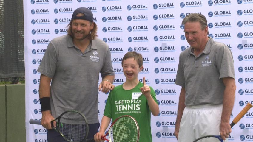 Jimmy Connors Supports Global Down Syndrome Foundation