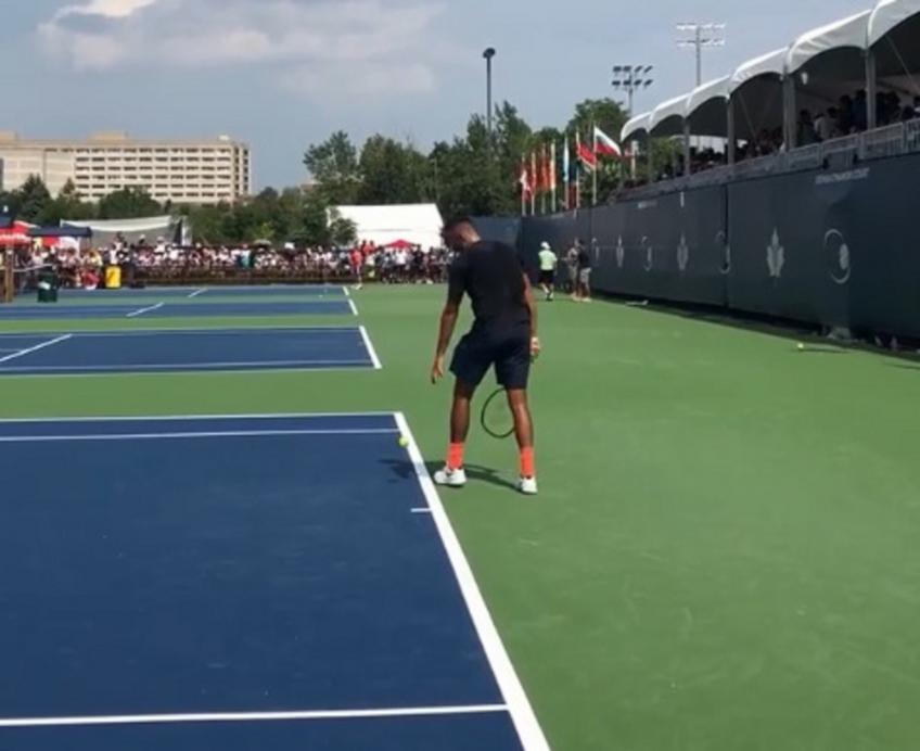 Funny Nick Kyrgios imitates eight different serves!