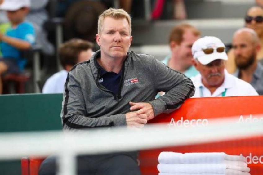 US Team Captain Jim Courier for proposed Davis Cup revamp