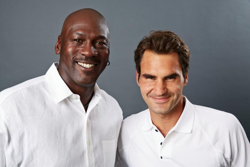 Image result for federer with jordan