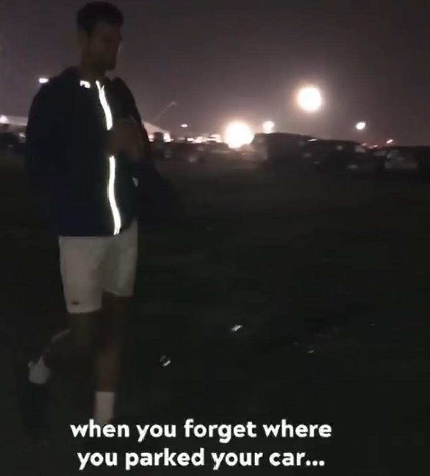 Novak Djokovic forgets where his car is