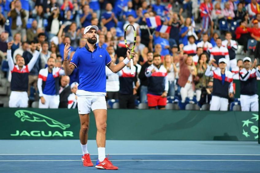 Davis Cup: Lucas Pouille gives France 2-0 lead