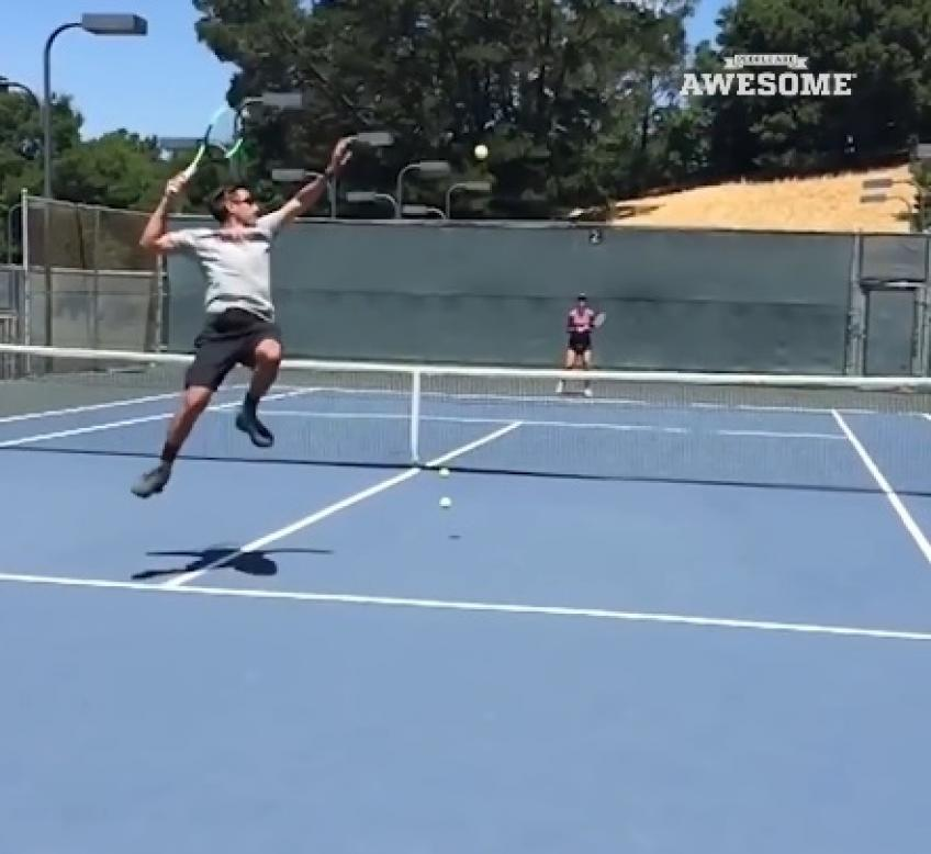 Clever Tennis Trick Shots